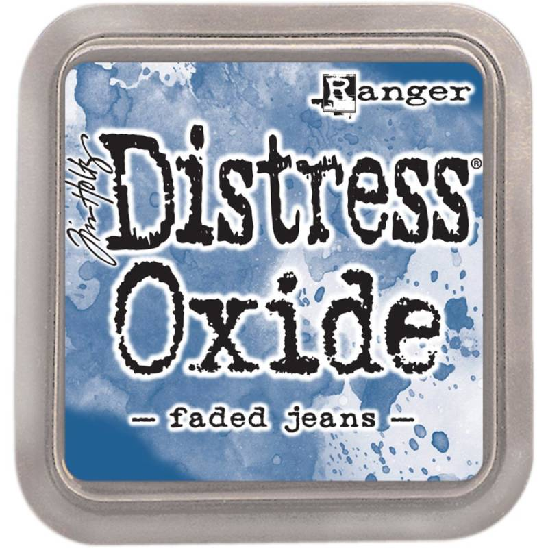 Distress Oxide Faded Jeans pad