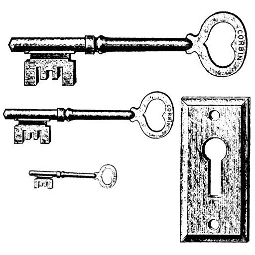 NS J3708 Three keys and keyhole