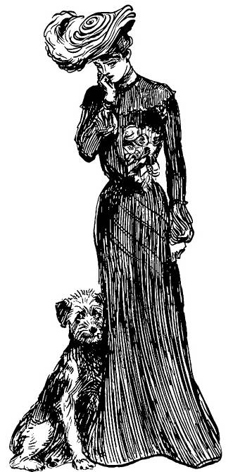 NS N9211 Woman with dog