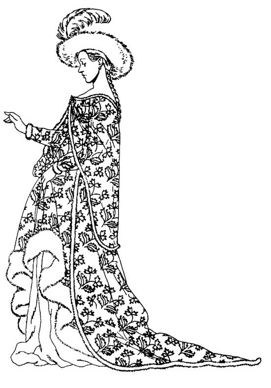 NS P5410 Medieval noble woman