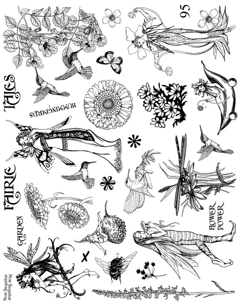 NSPL095 Plate 095 Of fairies and flowers