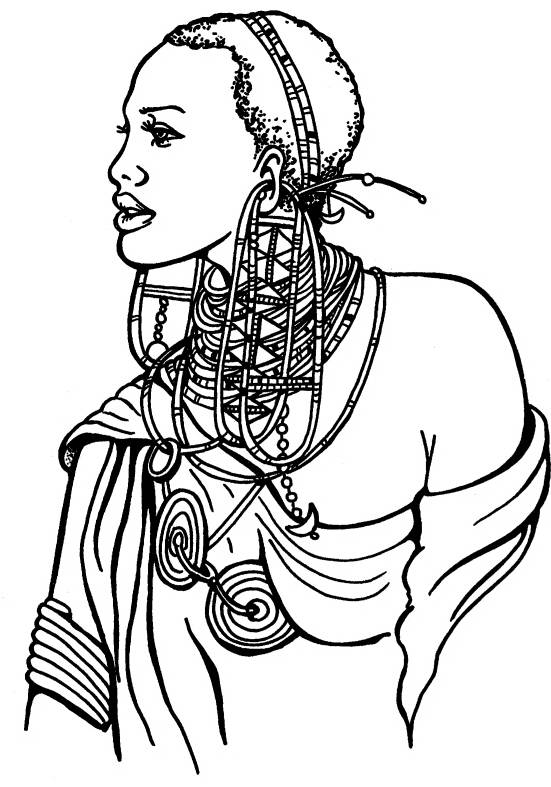 NS Q7301 African woman
