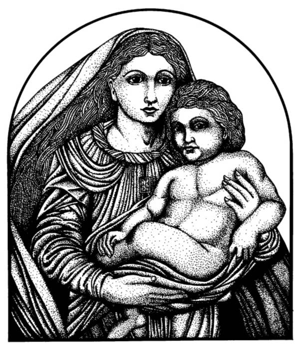 NS Q7803 Mary and child icon lg