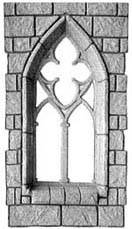 CP R594/55 Gothic castle window