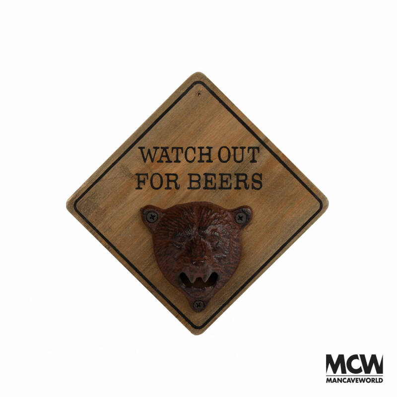 """Flessenopener ''Watch out for Beer"""""""