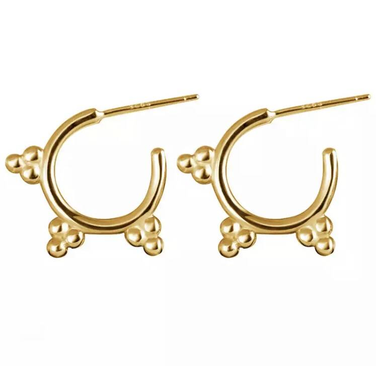 Sweet dots earrings - gold plated