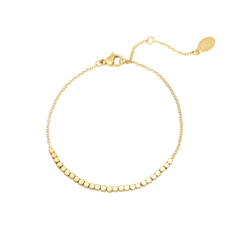 Armbandje line of dots - goud