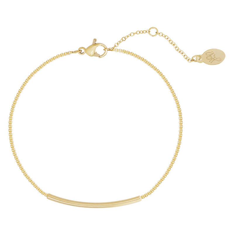 Armband cute little bar - goud