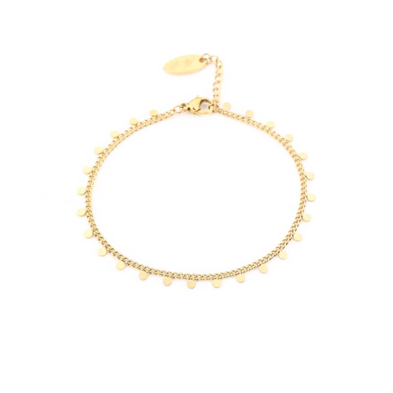 Armbandje little dots - goud