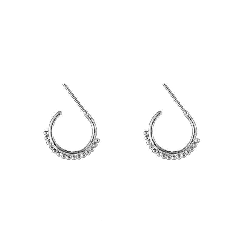 Trendy dots earrings - zilver