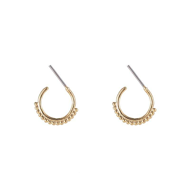 Trendy dots earrings - goud