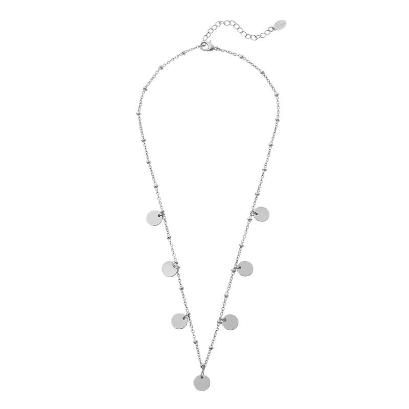 Ketting only 7 circles - zilver