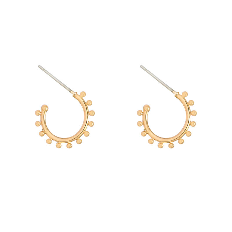 Tiny dots earrings - goud