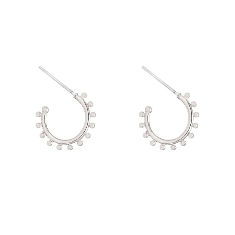 Tiny dots earrings - zilver