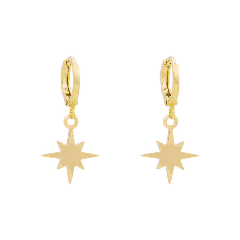 Universe star earrings - goud