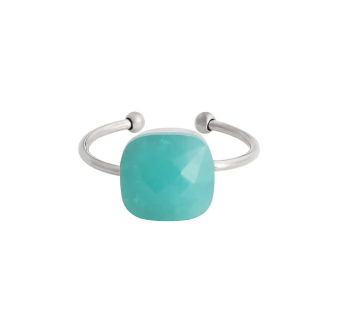 Ring magic stone turquoise - zilver