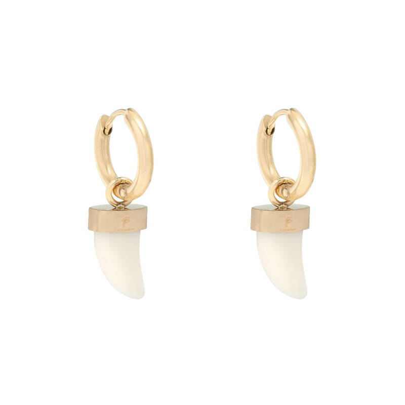 Bull's eye earrings - goud