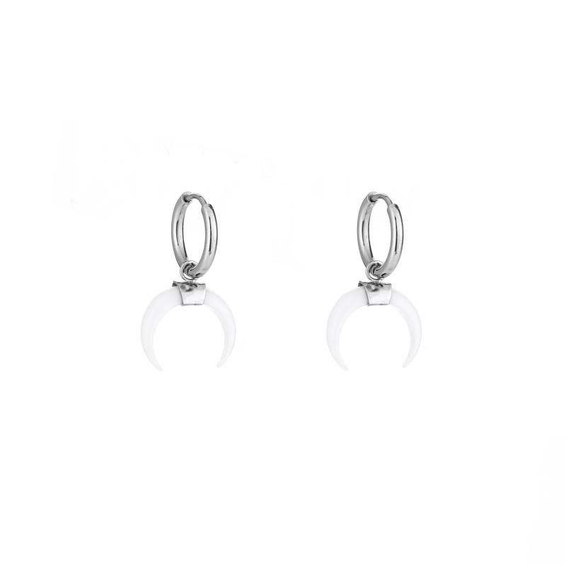 Bull's horn earrings - zilver