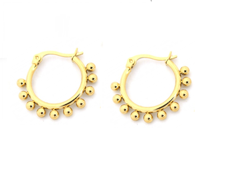 Dots earrings - goud 15 mm