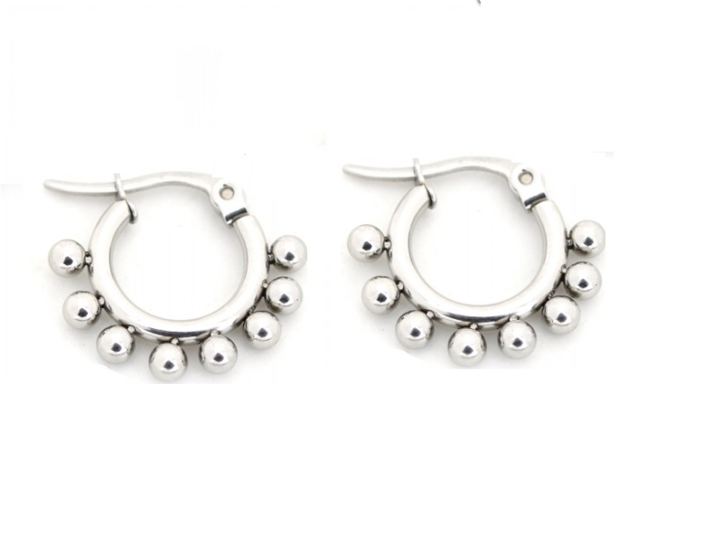 Dots earrings - zilver 10 mm