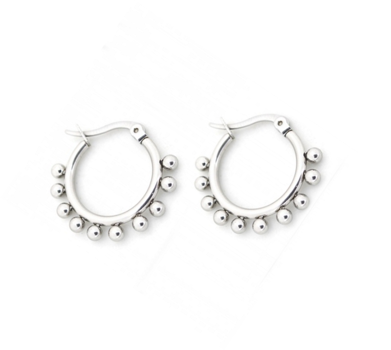 Dots earrings - zilver 15 mm