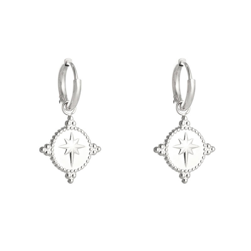 Guiding star earrings - zilver