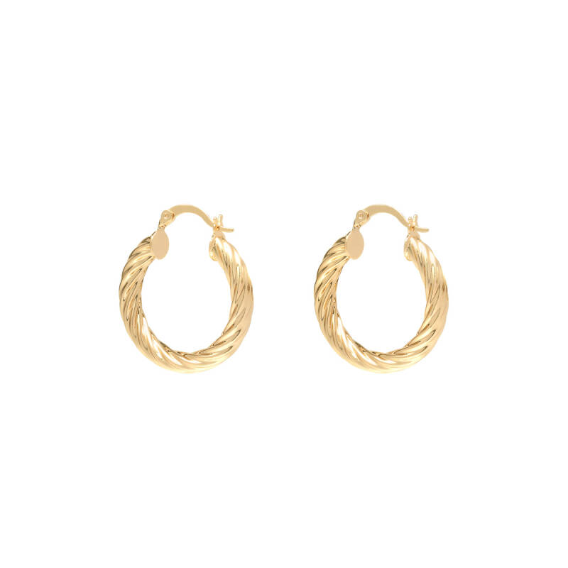 Twisted earrings - goud