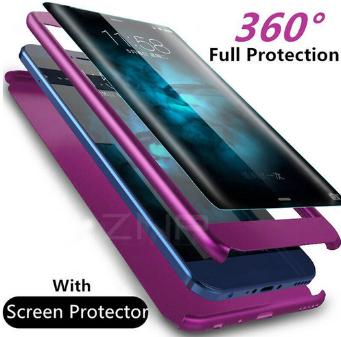 Full protection phone case (with screen protector for Samsung devices)
