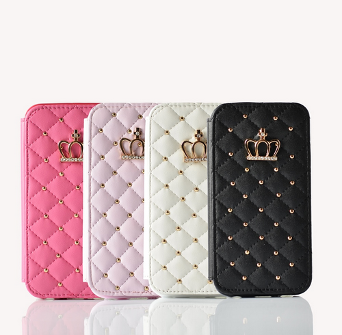 Leather wallet crown case