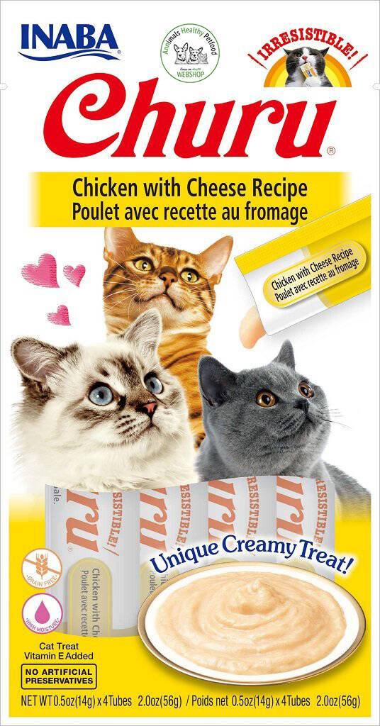 Inaba Churu Cat kattensnack Chicken with Cheese