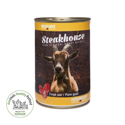 MeatLove Steakhouse Tinned Pure Goat - 400g