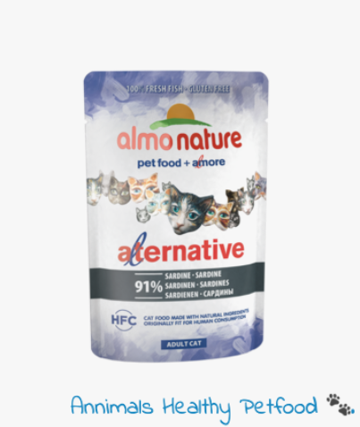Almo Nature Kat Alternative Natvoer Sardines - 55g