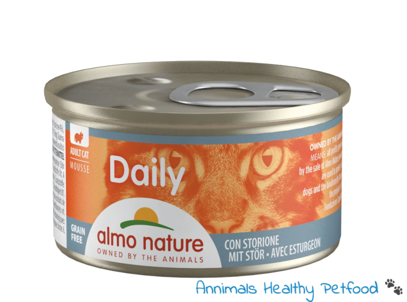 Almo Nature Kat Daily Menu Natvoer - Mousse 85gr - Steur