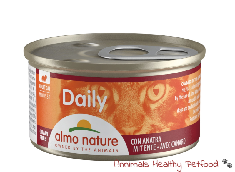 Almo Nature Kat Daily Menu Natvoer - Mousse 85gr - Eend