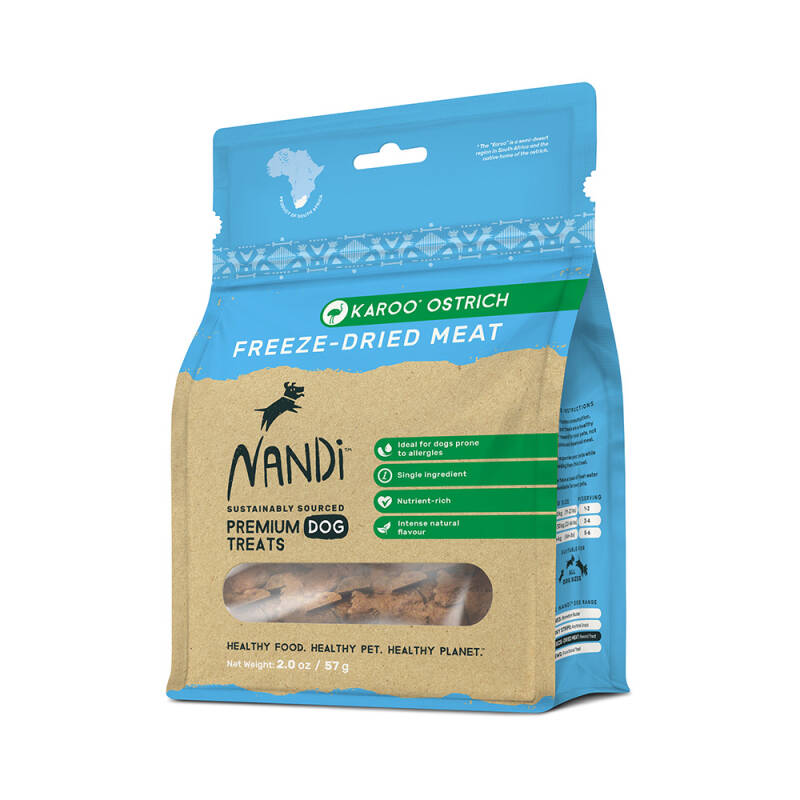 Nandi Freeze Dried Karoo Ostrich 57g