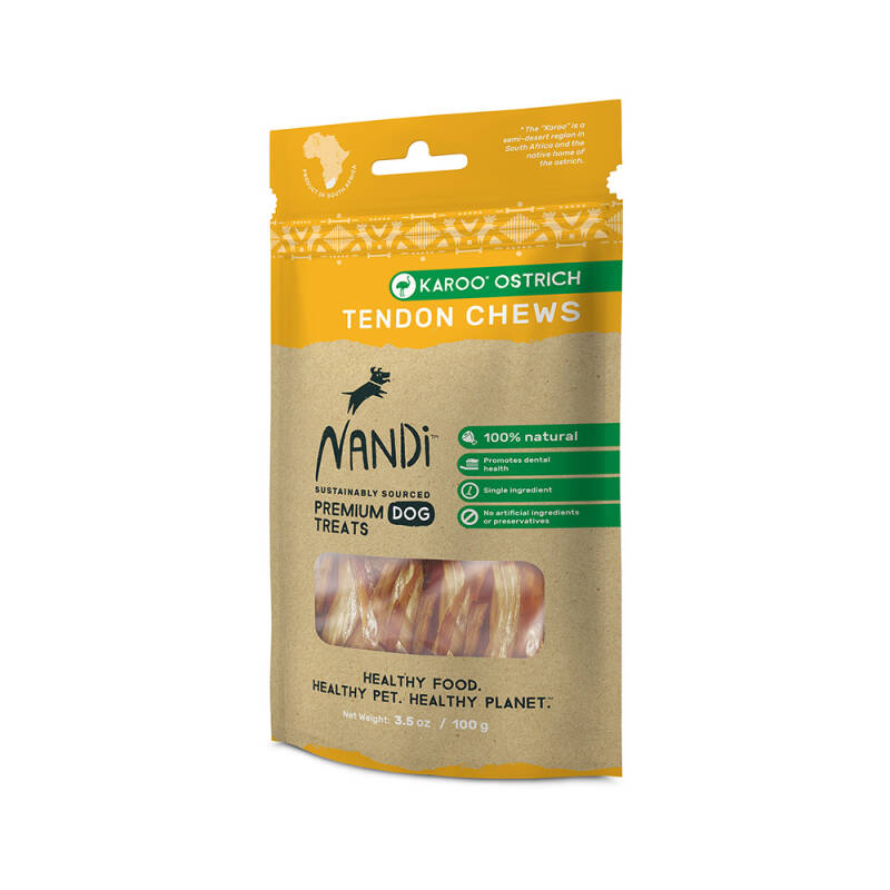 Nandi Chews Karoo Ostrich Tendon 100g