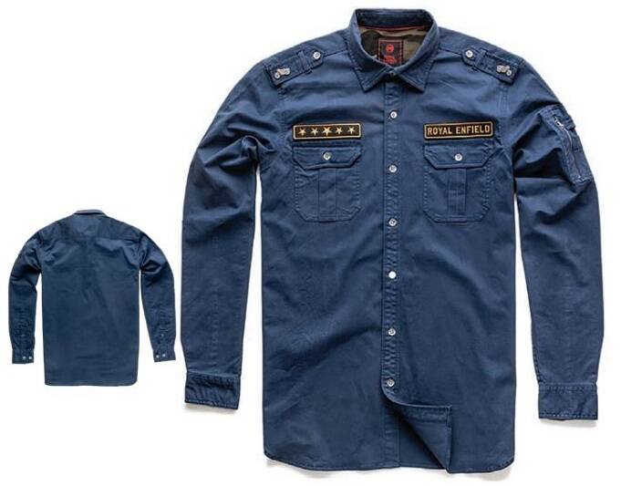 Military Badge Shirt Navy - RECL
