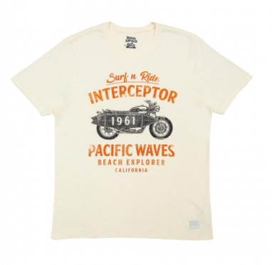 Pacific Waves T-Shirt White - RECL