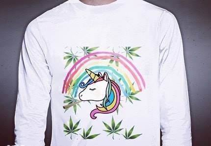 Blazing Unicorn Rainbow Shirt