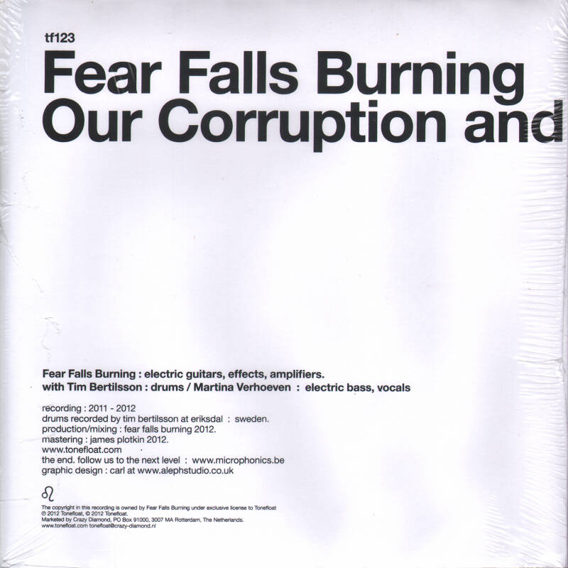 """TF123 // FEAR FALLS BURNING - OUR CORRUPTION AND EMPTINESS (PROMO 7"""")"""
