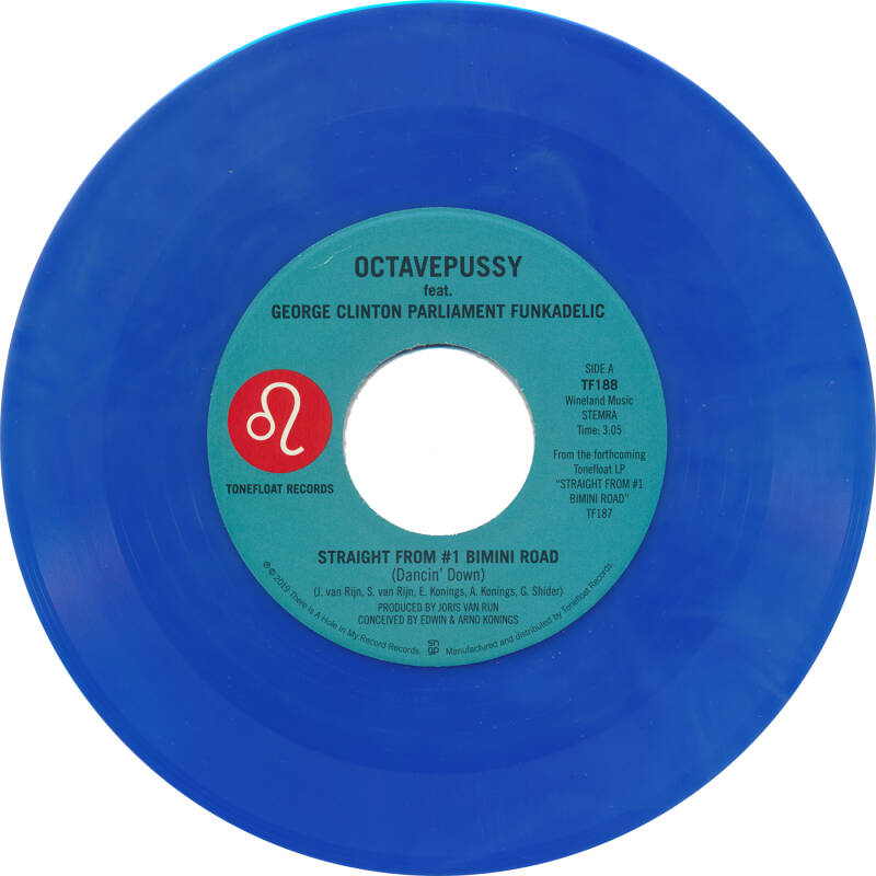 "TF188 // OCTAVEPUSSY - STRAIGHT FROM #1 BIMINI ROAD (BIMINI BLUE VINYL 7"")"