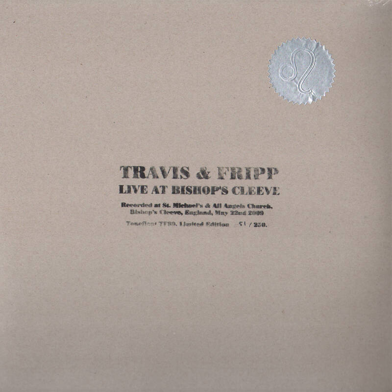 TF089 // THEO TRAVIS + ROBERT FRIPP - LIVE AT BISHOP'S CLEEVE (LP)