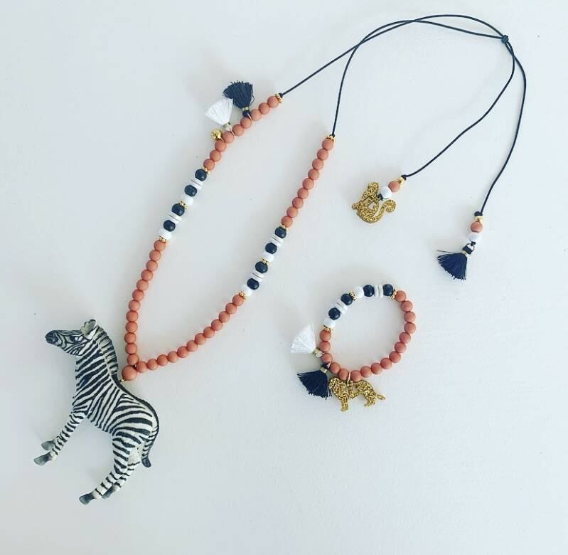 Coral stripes ketting