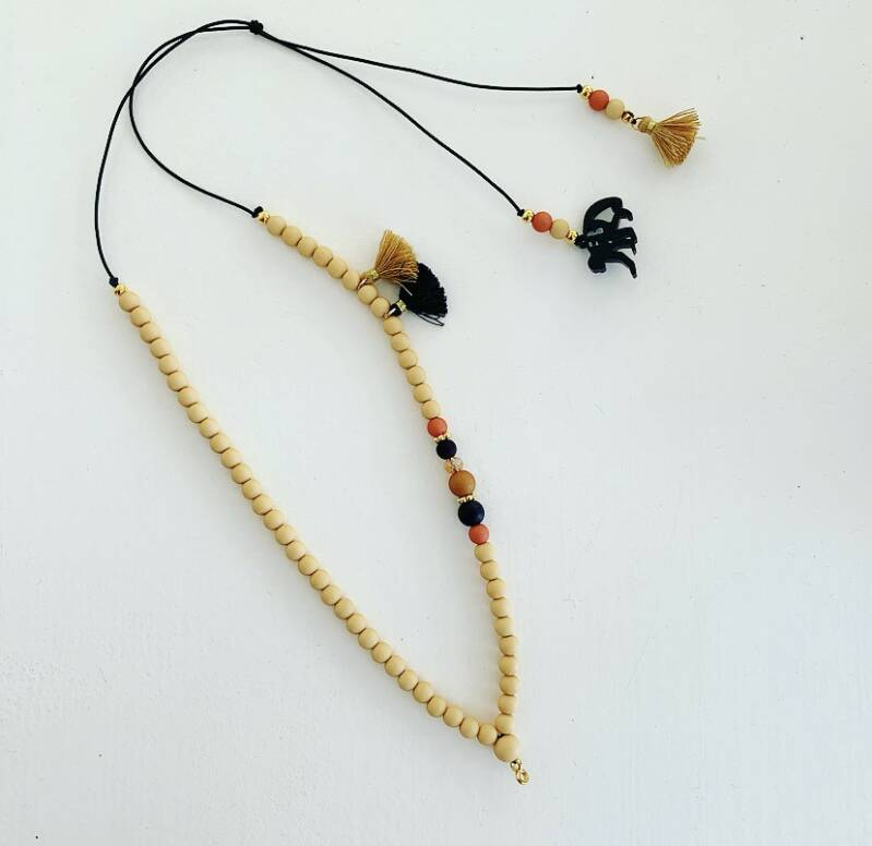 Wooden chique ketting