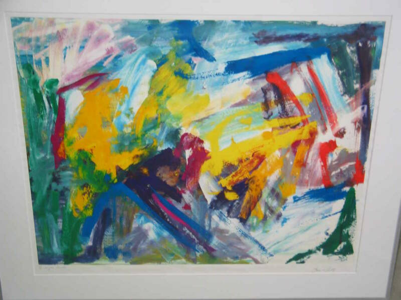 Bram d'Hont - Abstract (80 * 100 incl lijst)