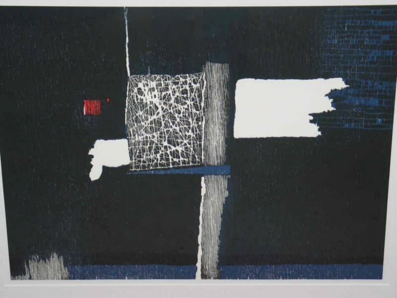 Guillaume le Roy - Abstract donker ( 65 * 80 incl. lijst)