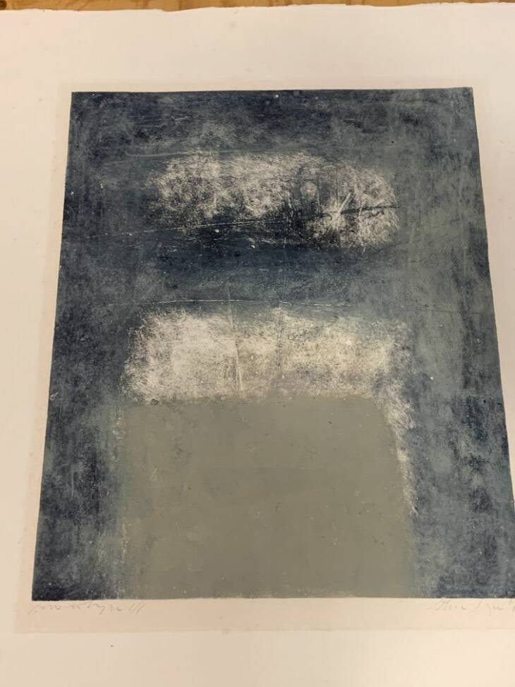 1370 - Thea Figee - Abstract blauw / grijs