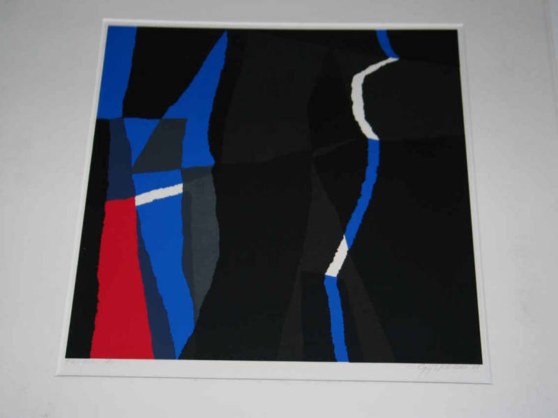 1870 - Gijs Keizer - Abstract blauw/rood