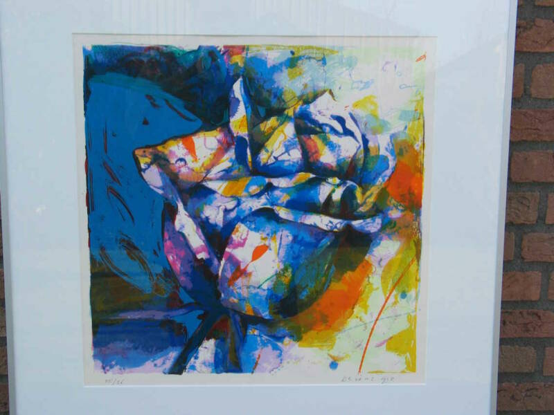 Paul de Vries - abstract blauw, lila