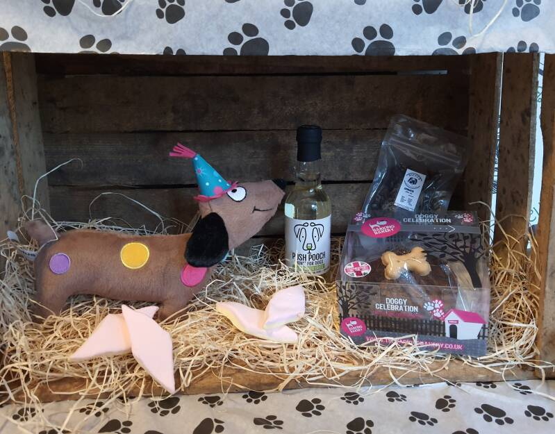Birthday Giftbox with large muffin